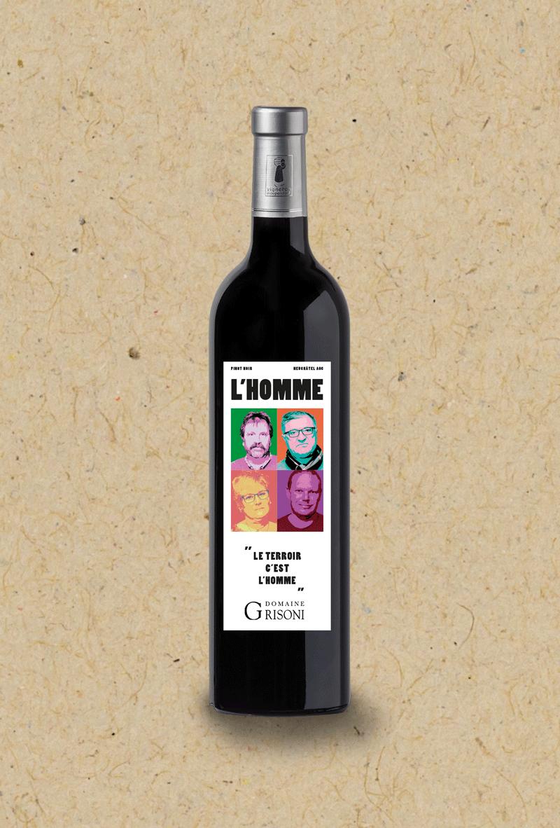 L'Homme Pinot Noir Grisoni. Cuvée participative.