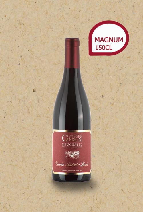 Pinot Noir Cuvée St-Louis du Domaine Grisoni. Magnum millésime 2018.