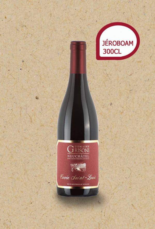 Pinot Noir Cuvée St-Louis du Domaine Grisoni. Jéroboam millésime 2018.