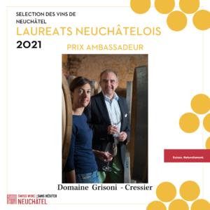 Prix Ambassadeur Vins Neuchâtel 2021